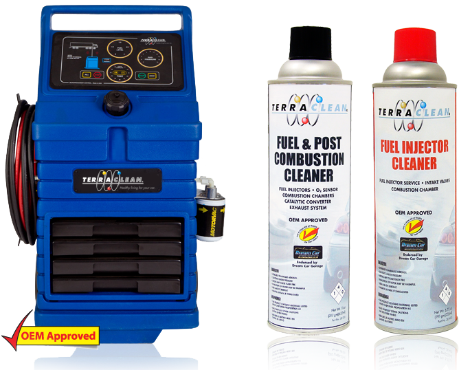 Tera Clean Machine for cleaning car engines